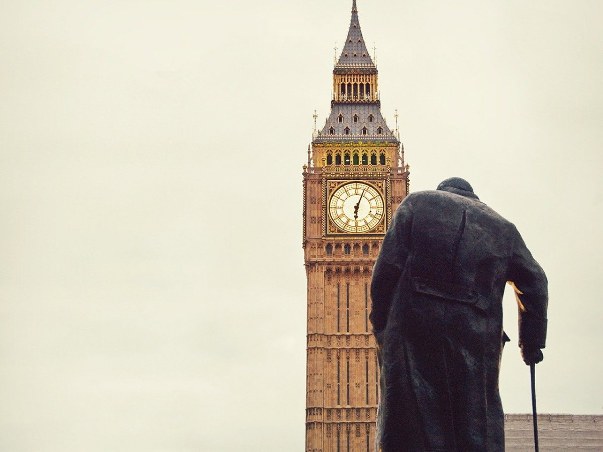why was winston churchill removed from office